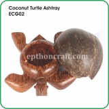 Coconut Turtle Ashtray