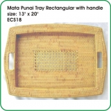 Mata Punai Tray Rectangular with handle