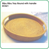 Ribu Ribu Tray Round with handle