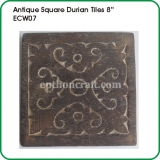 Antique Square Durian Tiles 8""