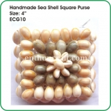 Handmade Sea Shell Square Purse