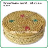 Rungus Coaster (round) / set of 4 pcs