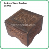 Antique Wood Tea Box
