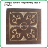 Antique Square Tiles 6""