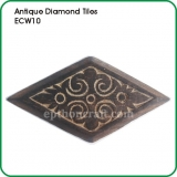 "Antique Diamond Tiles 10""x5"""